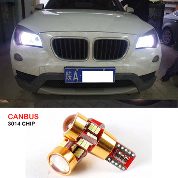 2x T10 W5W Canbus Error Free Car LED Wedge Light For BMW E46 E39 E91 E92 E93 E28 E61 F11 E63 E64 E84 E83 F25 E70 E53 E71 E60 M image
