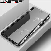 JASTER Smart Mirror Flip Phone Case For Samsung Galaxy S10E S9 S10 Plus S7 Edge Clear View Cover A3 A5 A7 J3 J5 J7 A6 A8 Cases(China)
