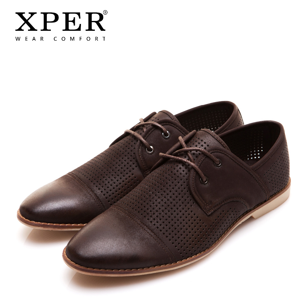 XPER Men Casual Shoes Lace-up Men Flats Shoes Breathable Fashion Sporty Shoes For Men Chaussure Homme CE86806BN 2017new men casual shoes elastic breathable massage flats shoes spring summer men s flats men sapatos chaussure homme masculinos