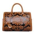 2016 women Fashion vintage Floral Embossed Handbags Famous designers brand Shoulder hand Bags female leather Totes