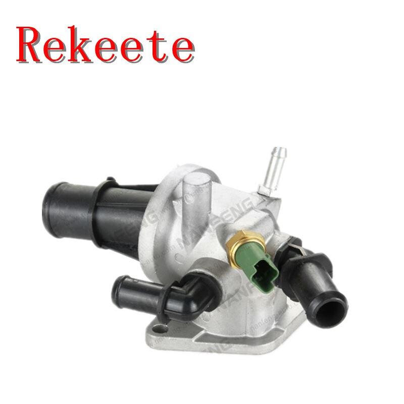 Thermostat de système de refroidissement automatique 1 pièces pour Termostato Valvola Termostatica DENSO Fiat 500 panda (169) 1.3 Mjet 70 75 cv 1580532