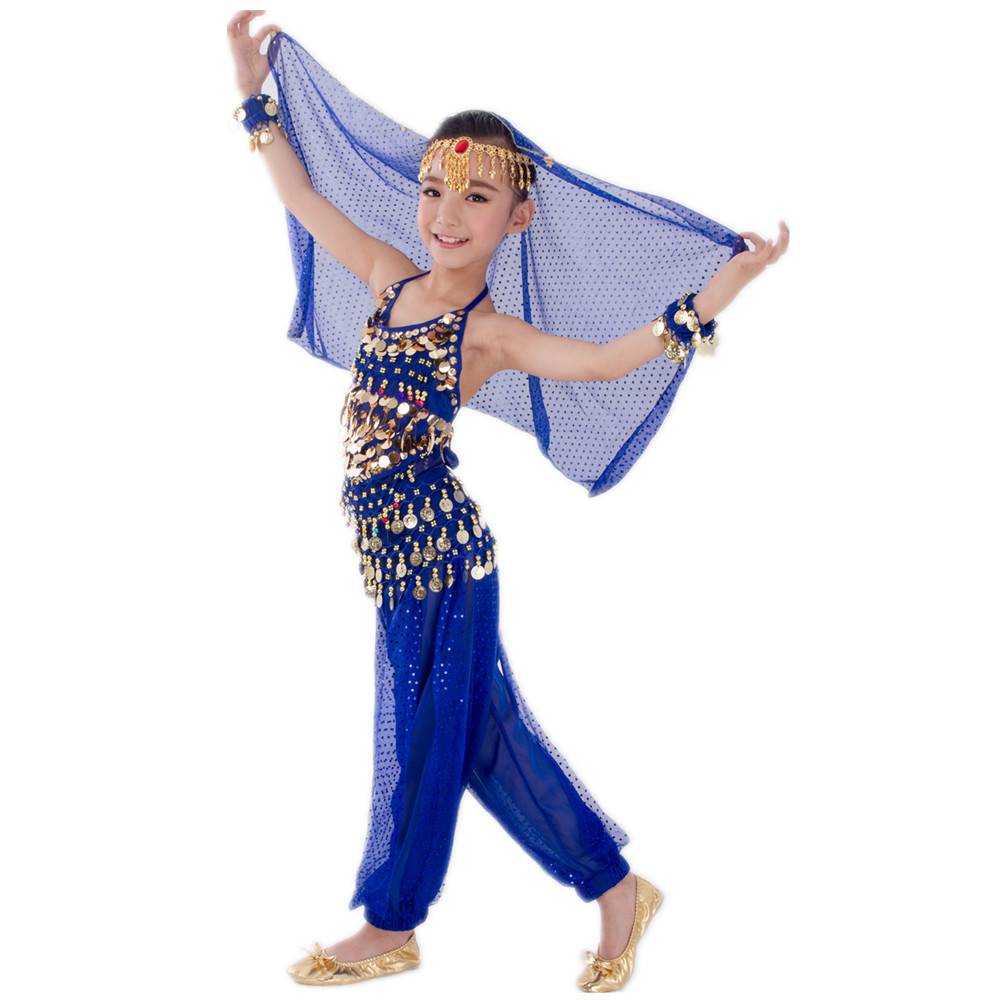 Kids Belly Dance Costumes Set Oriental Dance Girls Belly Dancing India Belly Dance Clothes Bellydance Child Kids Indian 6 Colors