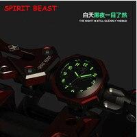 SPIRIT BEAST Motorcycle Instrument Handlebar Luminous Clock Watch Waterproof T6 Aluminium Alloy Moto Bike Cycling Racing Top