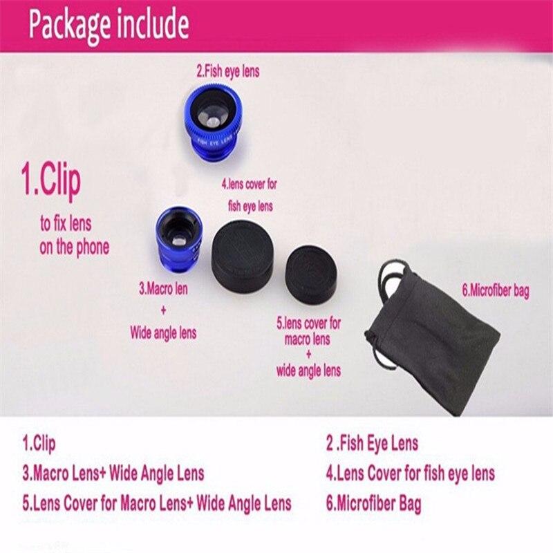FishEye Macro Phone Camera Lens for iPhone Huawei Samsung Xiaomi Models 5