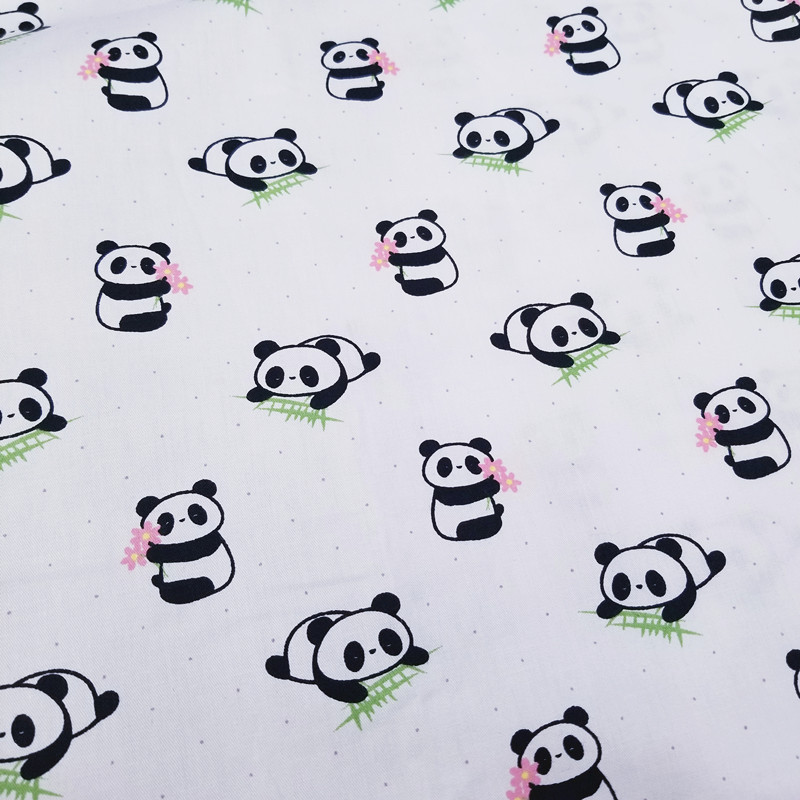 Kids Panda Ripple 100% Cotton print fabric DIY sewing uphostery craft for Baby&Children Quilting Sheets Dress Material 4