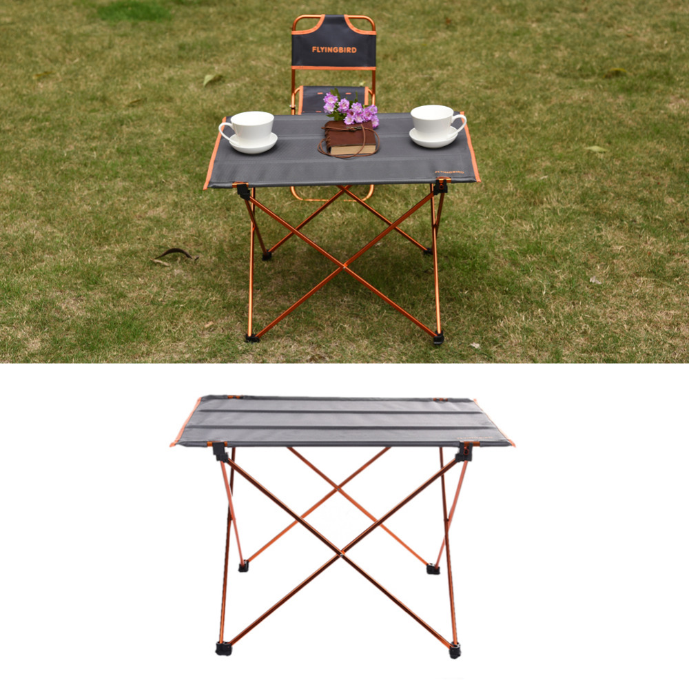 Outdoor Desk FLYINGBIRD Camping Barbecue Ultra-light Portable Foldable Folding Table Desk Picnic Aluminum Alloy Storage Desk outdoor camping hiking picnic bags portable folding large picnic bag food storage basket handbags lunch box keep warm and cold