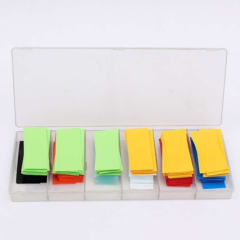 280pcs Shrinking For Battery wraps 18650 PVC Heat grip clear Shrink yellow green Tube Shrinkable Sleeve Insulation Protection in Cable Sleeves from Home Improvement