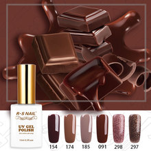 RS Nail Brown Glitter Gel Polish Set Chocolate Series Varnishes Mocha Coffee Long Lasting UV LED Manicure Hybrid 15ml