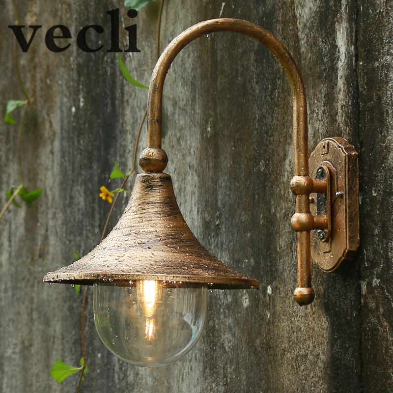 Large Speaker Wall Lamp, Waterproof Garden Outdoor Wall Lamp