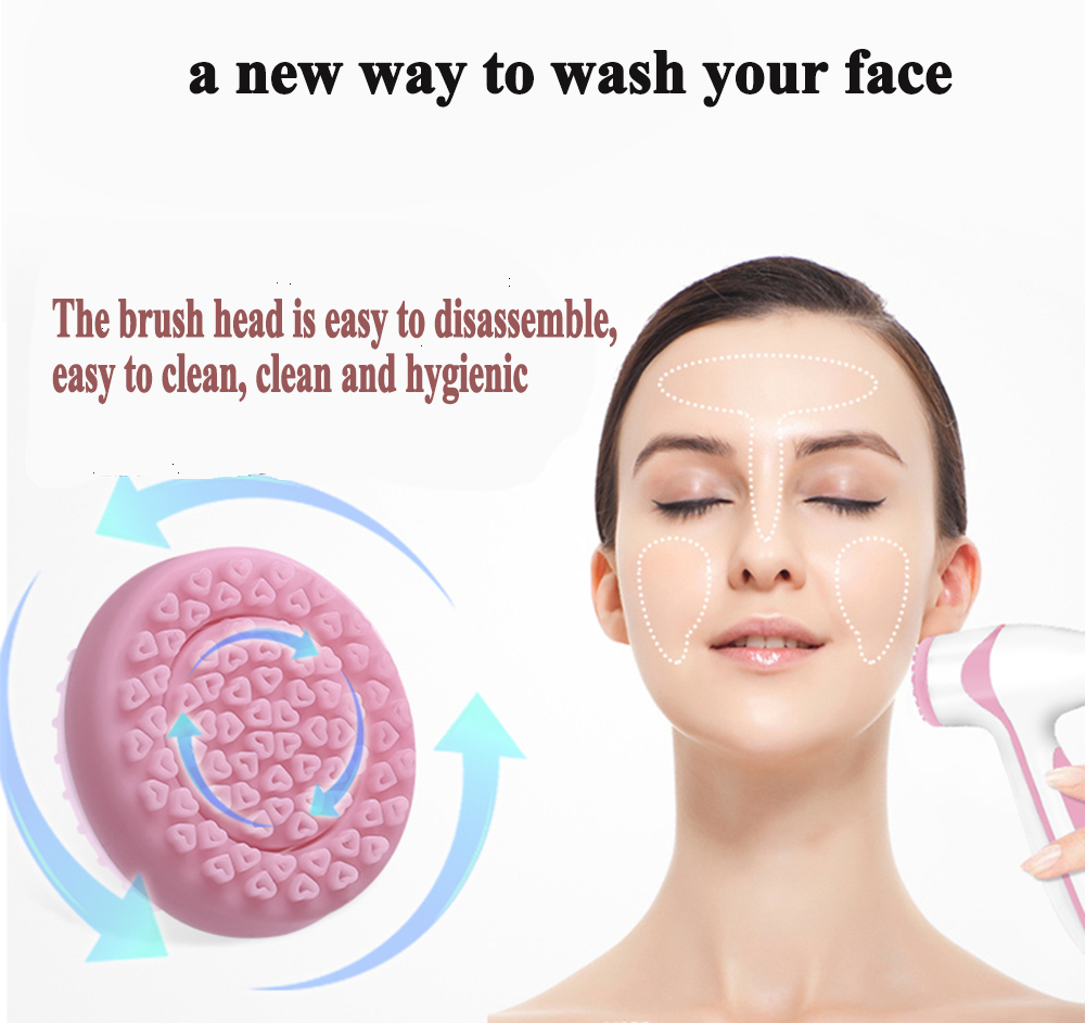 Facial Cleansing Brush Galvanic Spa Blackhead Remover Skin Care Tool Face Lifting Electric Facial Massager Silicone Face Brush in Face Skin Care Tools from Beauty Health