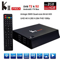 KII Pro Android 5.1 Caixa De TV 2 GB 16 GB DVB-S2 DVB-T2 HDMI 2.0 4 K 2 K Amlogic S905 Quad-Core WiFi Bluetooth 4.0 Smart Media jogador
