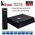 KII Pro Android 5.1 Caixa De TV 2 GB 16 GB DVB-S2 DVB-T2 HDMI 2.0 4 K 2 K Amlogic S905 Quad-Core WiFi Bluetooth 4.0 Smart Media jogador