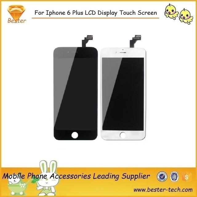 10 unids/lote nuevo oem lcd proveedor para iphone 6plus5. 5''lcd pantalla táctil digitalizador de reparación de piezas de montaje libre envío