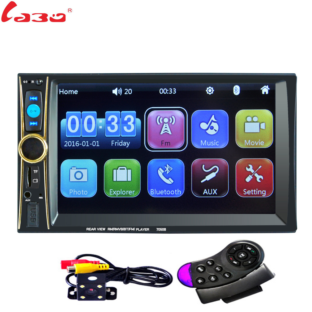 LaBo 2 Din Car multimedia Video Player Touch Screen Bluetooth Stereo Radio FM MP3 MP4 MP5 Audio Music USB TF Auto Electronics 4022d car radio mp4 player with rear view camera 4 1 inch car mp3 mp5 player bluetooth fm transmitter stereo audio for music