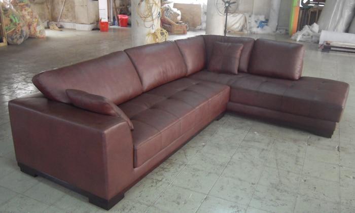Stūra dīvāns ar ādas modernu dīvānu komplektu, 2013. gada - Mēbeles - Foto 4