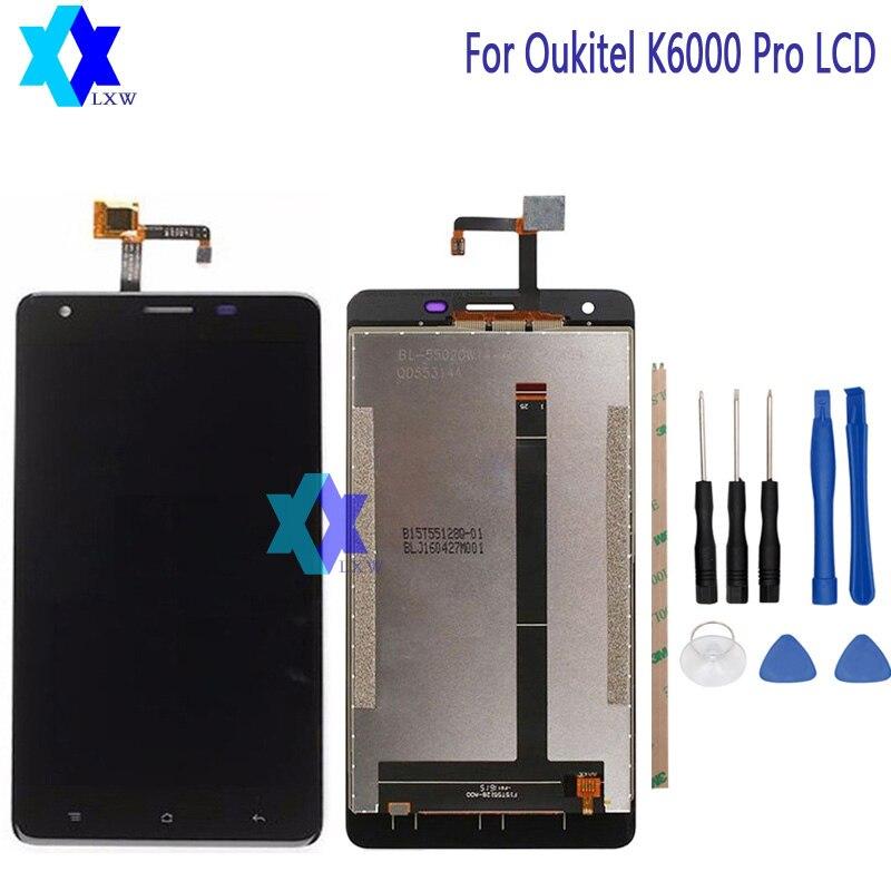 Pour D'origine Oukitel K6000 Pro LCD Display + Écran Tactile Panneau Numérique Pièces De Rechange Assemblée 5.5 pouce 1920x1080 P Stock