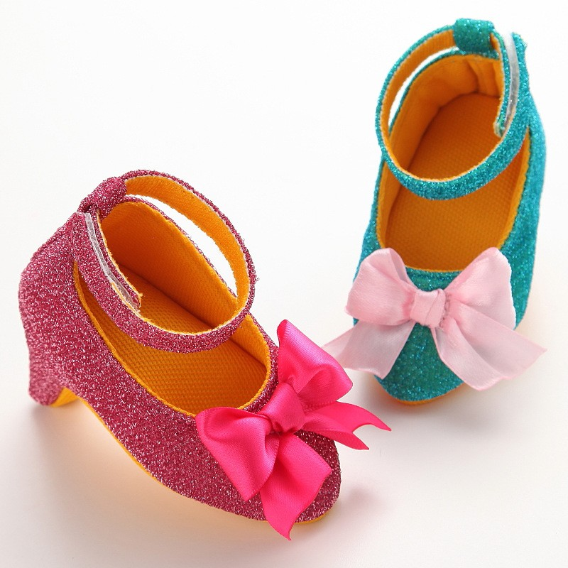 735c0b8e73a Detail Feedback Questions about Baby Girl Shoes Princess Bow Knot Walker  Infant Toddler Prewalkers Bling Wedding Party Bow High Heels Shoes Newborn  Footwear ...