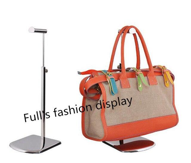 10pcs Fashion Metal Mirror Surface Bag Display Rack Adjustbale Women