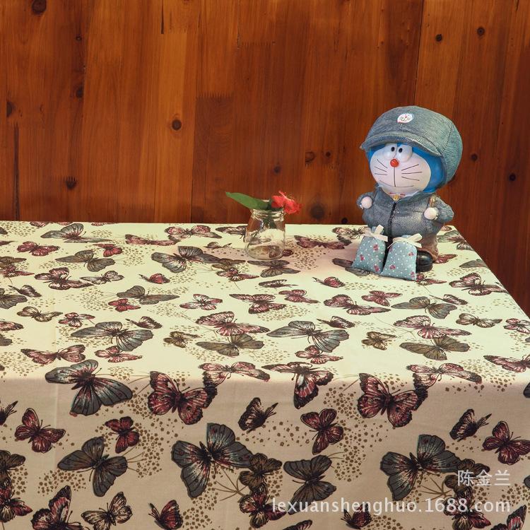mariposa animal de algodn de lino impreso manteles modernos para restaurante home hotel fiesta al aire