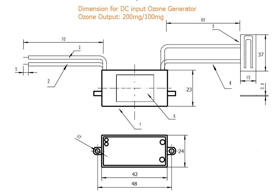 DC12V/24 V AC110V/220 V Керамика генератор озона пластины 200 мг/ч для очиститель воздуха 12 шт./лот