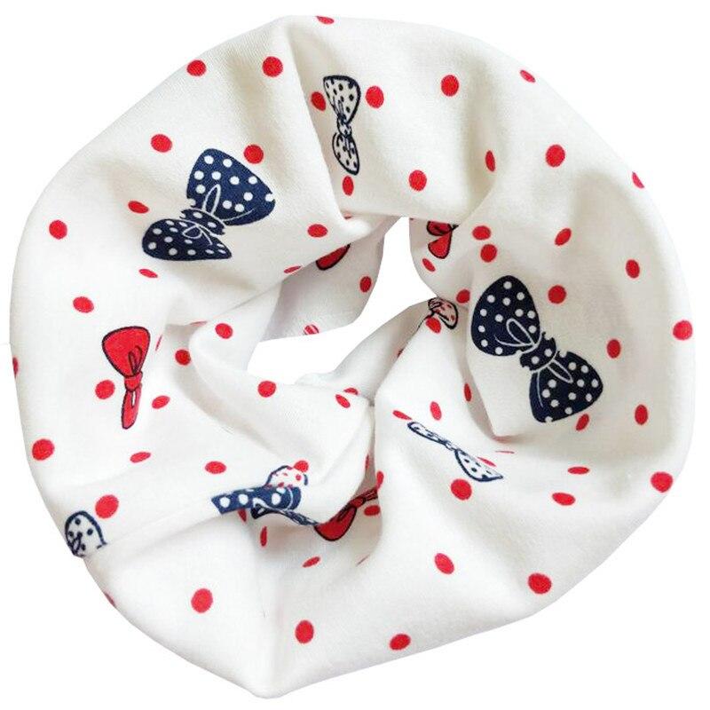 Новинка; Модный хлопковый шарф для маленьких девочек; осенне-зимний шарф для маленьких мальчиков; Детский шарф с круглым вырезом; Детские шарфы; волшебный шейный платок - Цвет: Bowknot