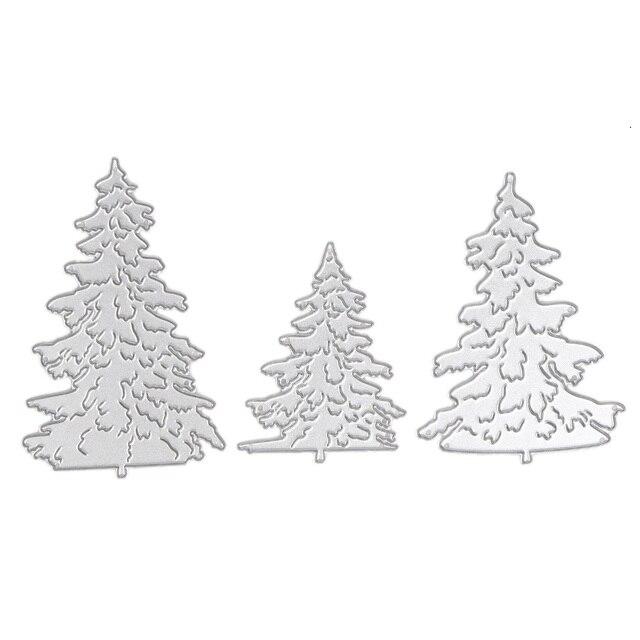3 sztuk Metalowe Wykrojniki dla Scrapbooking Boże Narodzenie Umiera Tłoczenie Folderu Szablon Album Dekoracyjne Choinki
