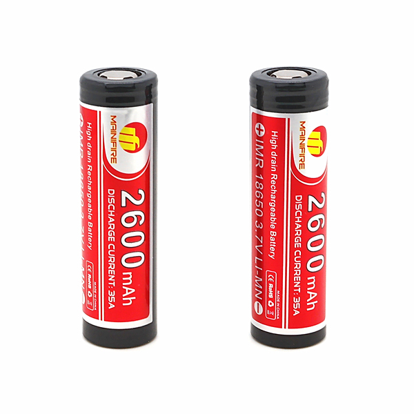 Consumer Electronics Batteries Selfless Free Shipping Mainifire Imr 18650 2600mah 35a 3.7v Rechargeable Li-ion Battery For E Cig Scooters Balance Car 1 Pc