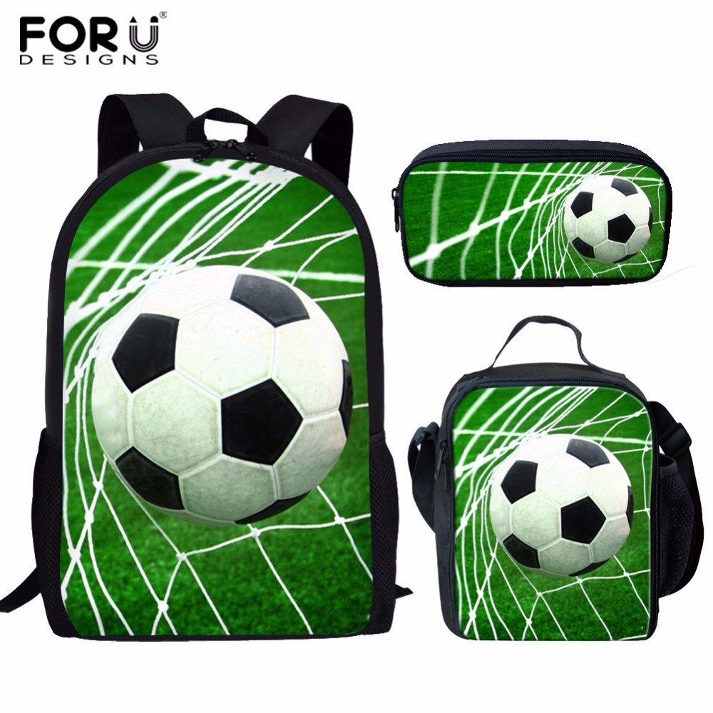 Lights & Lighting Practical Forudesigns School Bags For Teenagers Girls Schoolbag Large Capacity Foot Ball Printing School Children Backpack Set Pencil Bag