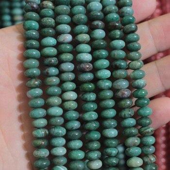 25e4a9368a3c 5x8 x mm rondelle australiano jades cuentas de piedra natural de espaciador  perlas para joyería haciendo strand 15