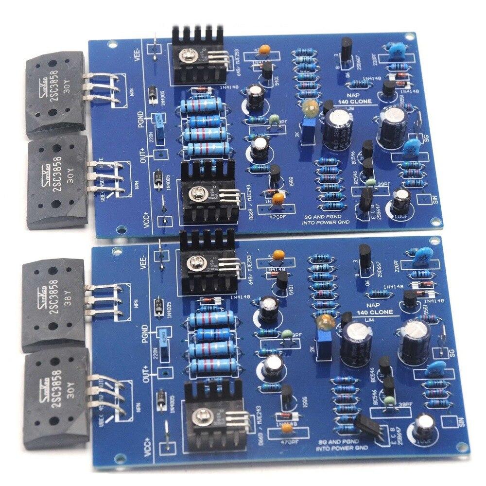Une paire NAIM NAP140 CLONE assemblé double carte amplificateur 80 W 8R 2SC3858 AMP par LJM