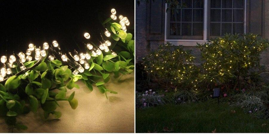 c355c5ccc متعدد الألوان 8 متر 60 المصابيح أضواء لوحة led بالطاقة الشمسية ضوء سلسلة  الجنية عطلة عيد الإضاءة حديقة الديكور