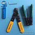 4 ШТ. МИЛЛЕР F0103 Волокна зачистки плоскогубцы + FTTH Напольный кабель стриптизерши + Волоконно-оптический фиксированной длины Волокна Набор Инструментов