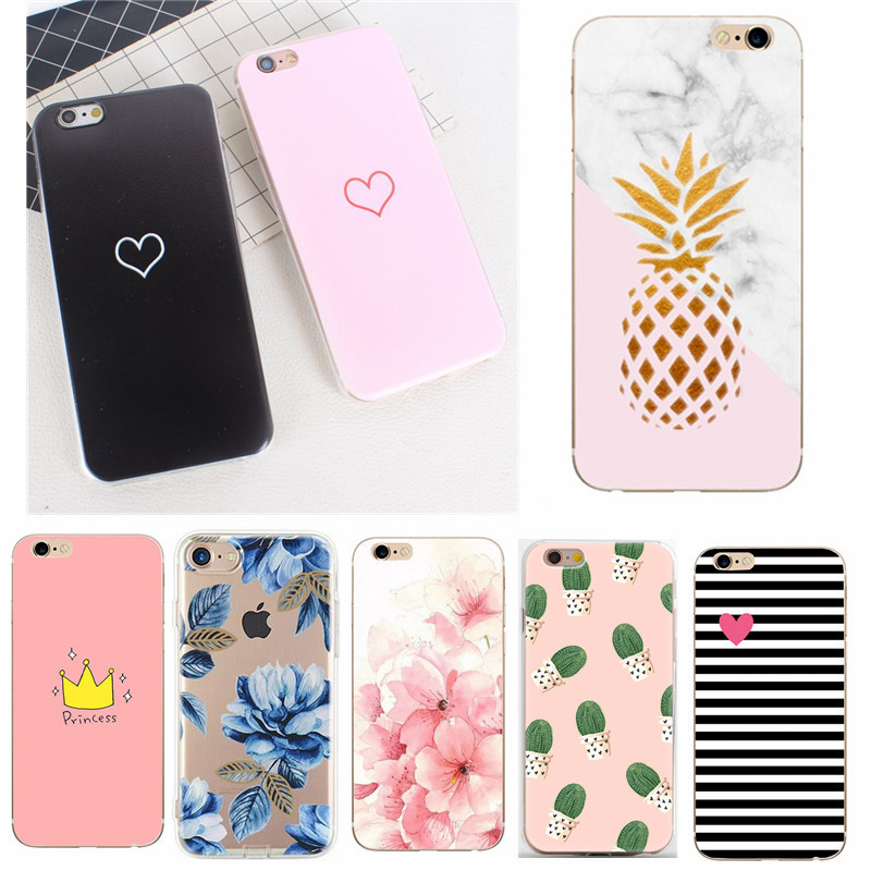 For Coque <font><b>iphone</b></font> 7 8 <font><b>6S</b></font> <font><b>Case</b></font> Silicone Soft TPU Cover For Apple IPhone7 6 5 5S SE Cover Funda For <font><b>IPhone</b></font> 6/7/8/<font><b>6S</b></font> Phone <font><b>Bumper</b></font> image