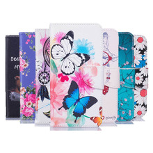 Phone Cases For Samsung Galaxy A5 2017 Case Leather Wallet Flip Cover For Samsung A5 2017 Case Luxury Cartoon Butterfly Painted