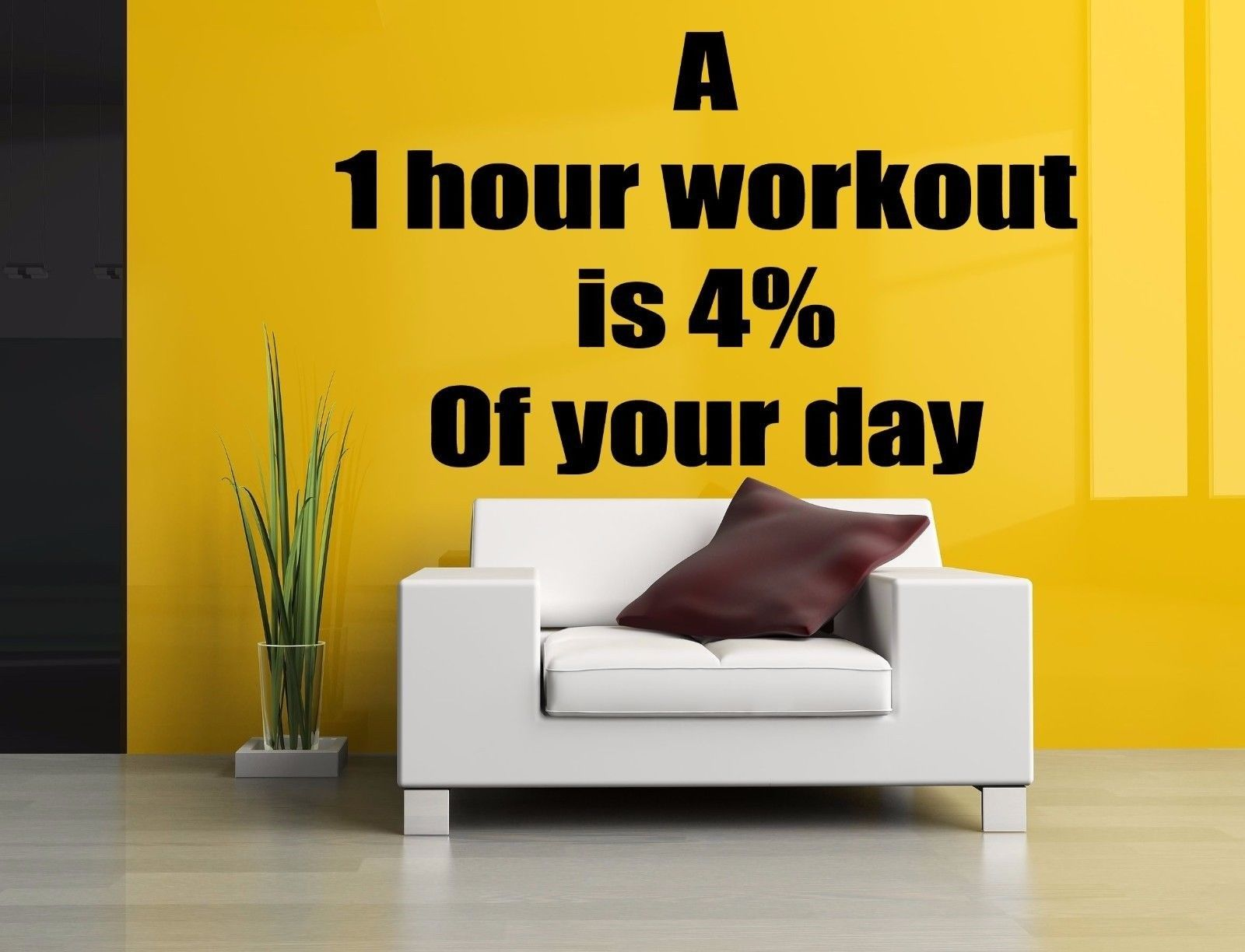Wall Room Decor Art Vinyl Sticker Mural Decal Gym Work Motivational ...