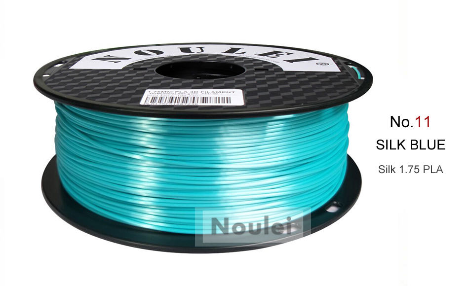 11 3D Printer Filament 1.75 SILK PLA SILK BLUE
