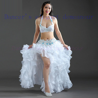 Girls Performance belly dancing clothes for women belly dance bra top and belt 2pcs belly dance show set lady dance costumes