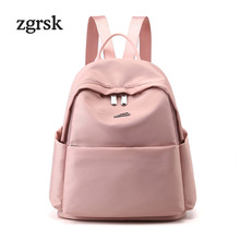 Fashion Light Women Backpack Waterproof Nylon Backpack For Women Multi-pocket School Shoulder Bag Girls Casual Daypack Mochila