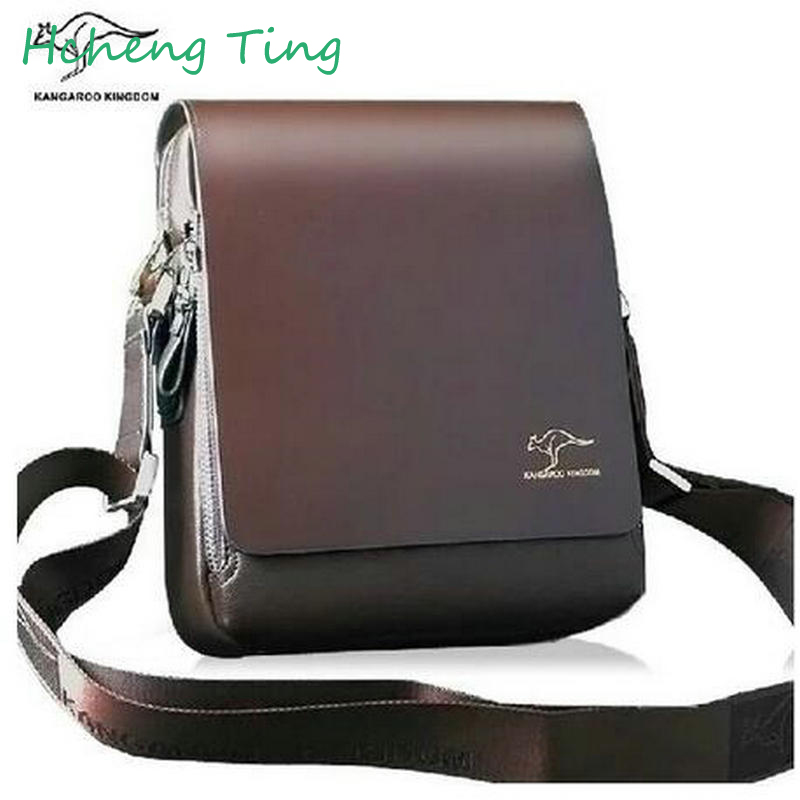 free shipping hot sell promotion brand kangaroo mens messenger bags vintage casual mens leather bag classic