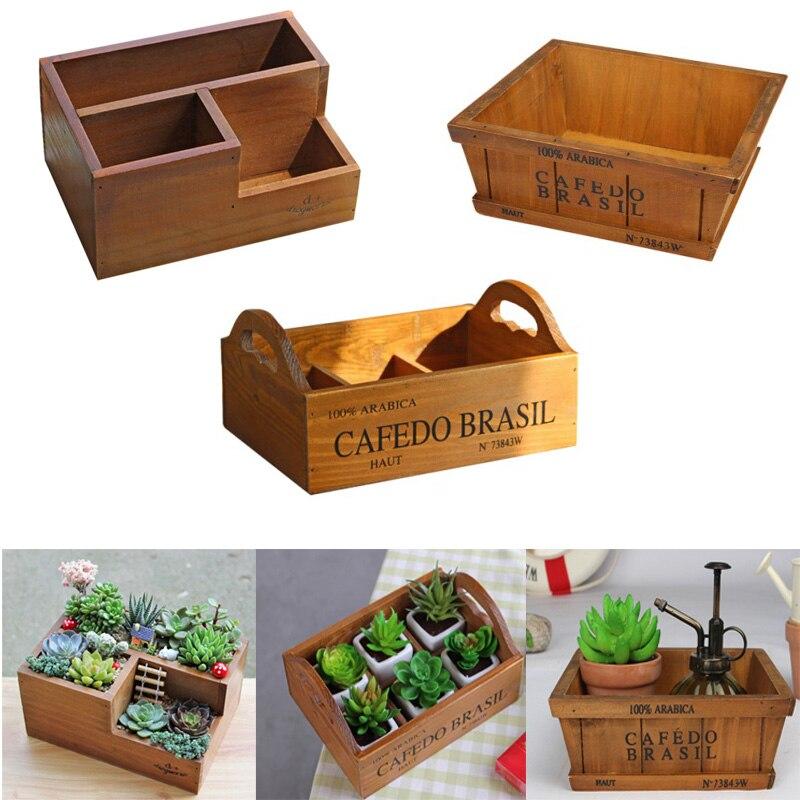 Garden Supplies Wooden Garden Planter Window Box Trough Pot Succulent Flower Bed Plant Bed Pot Free