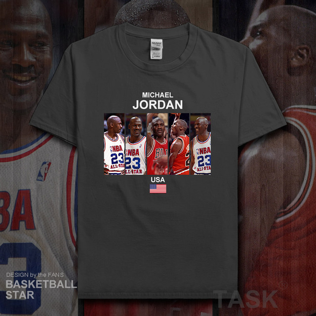 4a417a7e08e3 Jordan t shirt men jerseys USA basketballer star tshirt cotton sweatshirt  clothes brand fitness t-shirts fans tees summer MJ 20