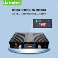 Triple Band Signal Repeater GSM900mhz DCS1800mhz WCDMA2100mhz Cell Phone Signal Booster With AGC MGC