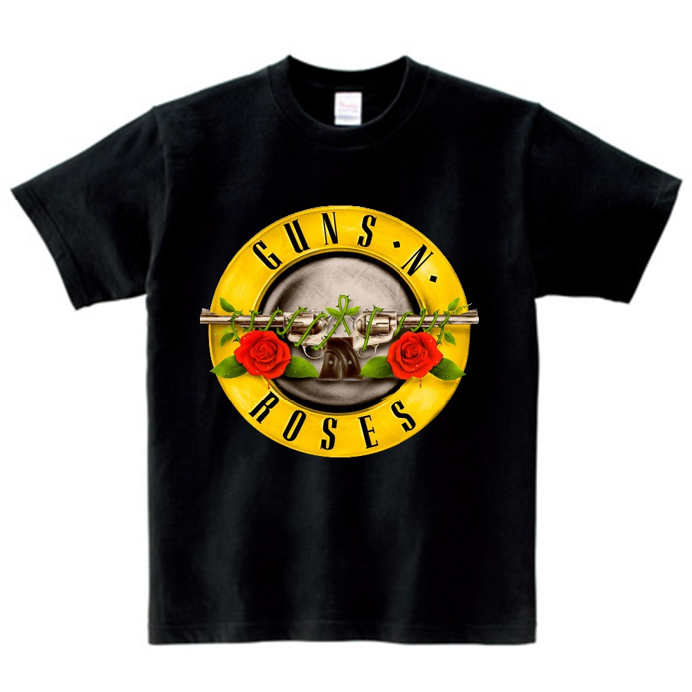 Guns N Roses T Shirt Kid 2021 T-shirt Pure Cotton Round Neck Baby Tshirt children's Infant Toddler Costume For boy and girl NN 1
