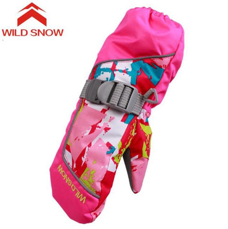 New Child Ski Gloves Girls Outdoor Sports Windproof Snowboard Boys Waterproof Winter Warm Skiing