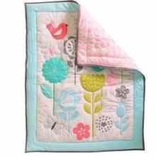 1 шт., детское одеяло с принтом птицы, тонкая секция, детские постельные принадлежности, аксессуары, мультяшное одеяло