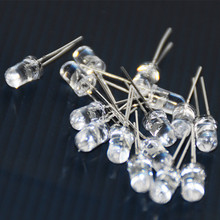 100pcs 5mm LED Diode Flash White RED Blue Green Yellow Pink RGB Flashing Blinking 2Pins Clear Light Emitting Diodes Lampada Diod
