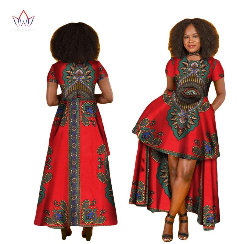Robe Africaine: BintaRealWax African Dresses For Women O Neck Dashiki Long