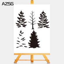 AZSG flower tree style Clear Stamps Metal Cutting Dies Set for DIY Scrapbooking/photo Album Decorative Craft Stamp Chapte