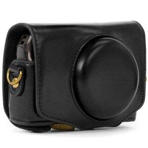 Image 4 - ريترو بو الجلود حقيبة كاميرا غطاء واقٍ مزخرف لهاتف آيفون غطاء مع حزام لكانون باور شوت SX740 HS SX730 HS SX720 HS كاميرا رقمية
