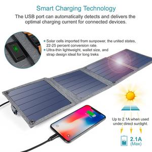 Image 5 - CHOETECH Solar folding Charger 14W USB Output Devices Portable Waterproof Solar Panels for iPad iPhone X XS samsung Smartphones